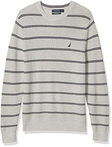 Nautica Men's Navtech Crewneck Sweater, Grey Heather, X-Large