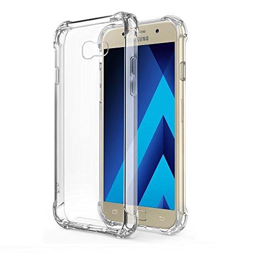 REY Funda Anti-Shock Gel Transparente para Samsung Galaxy A5 2017, Ultra Fina...