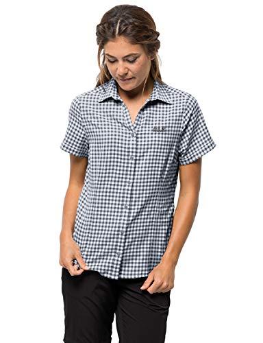 Jack Wolfskin Damen Kepler Shirt Bluse, Ebony Checks, S