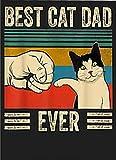Placa de metal de estaño cartel de metal Interesting Lodge Sign para hombre vintage mejor gato papá siempre Bump Fit diseño de metal elegante adecuado para el hogar, bar, garaje, club de 20 x 30 cm