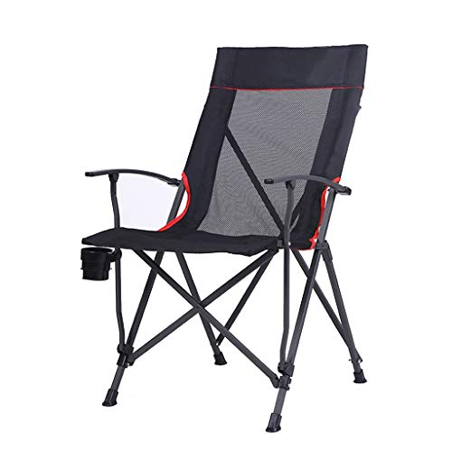 XUQIANG High Chair Back Armchairs Fishing Camping Chair for Outdoor Comfortable Lunch Backrest (56 * 68 * 96 cm) Folding Chair