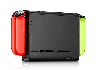 Nesjent 8000 mAh Power Case for Nintendo Switch, Slim Profile External Backup Power Bank with Adjustable Stand and Charging Port for Smartphone