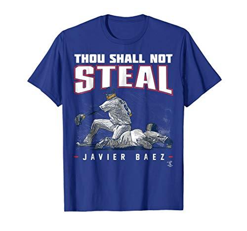 Javier Baez Thou Shall Not Steal T-Shirt - Apparel