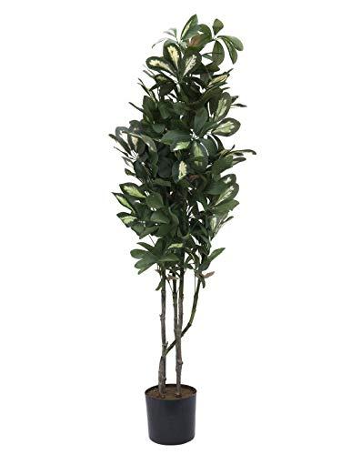 artplants.de Künstliche Schefflera Baum, getopft, 790 Blätter, 120cm - Unechte Zimmerpflanze - Plastik Deko Pflanze