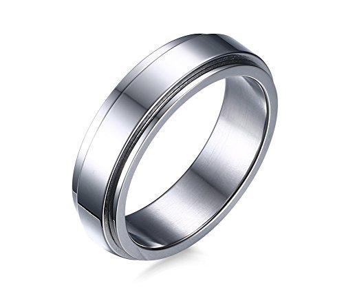 VNOX Herren Damen Spinner Band Ring Edelstahl Engagement Versprechen Ring Spinner Besitz Ehering