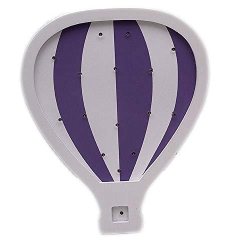 Luftballon LED Partyzelt Schild Baby Schlafzimmer Fantasy Wandleuchte Kinderzimmer Tisch Holz Dekor Kinderzimmer Nachtlicht violett