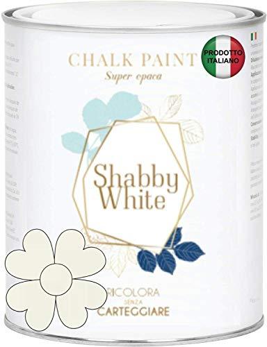 BIANCO ANTICO SHABBY WHITE CHALK PAINT Pittura Shabby Chic Vintage Mobili Pareti Altro Extra Opaca 40COLORI (375 ml)