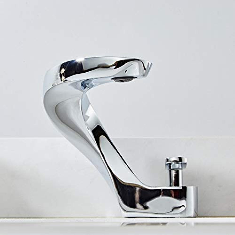 Lddpl Badezimmer Waschbecken Becken Wasserhahn Deck Montieren Helle Chrom Waschbecken Heies Wasser Kreative Kran Mischer Wasserhahn Waschbecken Mischbatterie