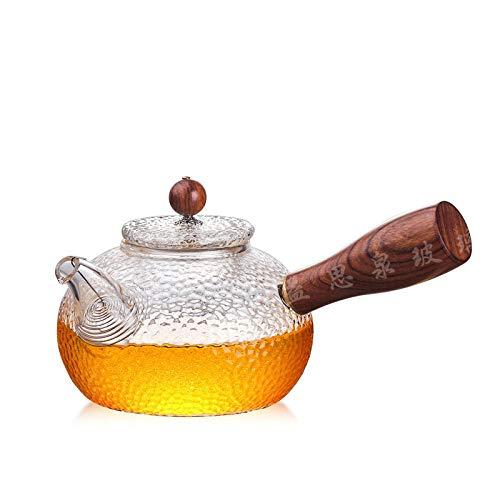 Glazen theepot Theepotten Glazen Theepot Kook Thee Speciaal Koker Hittebestendige Glazen theepot Ketel met Houten Handvat Glazen Pot Drinkware 300 ml