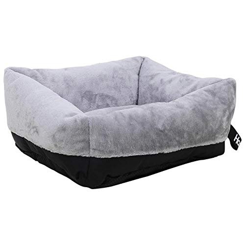 JIEJIU Pet Bed Pet Sofa Dog Beds Soft Sleeping Comfortable With Cushion For Puppy Warm Cats Bed For Large Dogs House For Cat, Gray,M 60X50X28