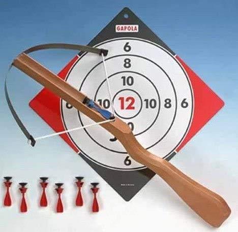 GA_700 Kinder Armbrust Set mit 8 Sicherheitspfeilen und Zielscheibe, Armbrust für Kinder