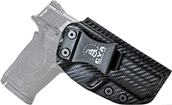 CYA Supply Co. Fits S&W M&P 9 Shield EZ Inside Waistband Holster Concealed Carry IWB Veteran Owned Company (Carbon Fiber, 045- S&W M&P 9 Shield EZl)