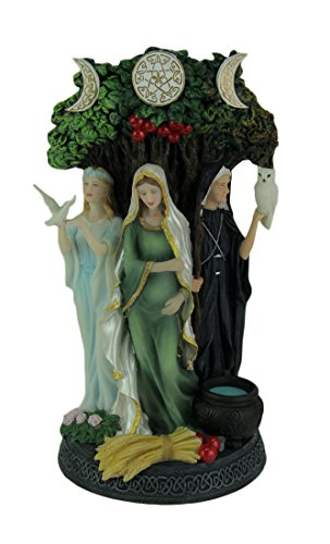 Veronese Design Resin Statues Danu Irish Triple Goddess of The Tuatha De Danann Statue 6 X 10.5 X 5 Inches