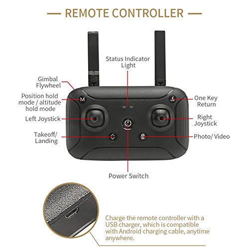 Holy Stone H501S X4 Brushless Drohne GPS 1080P HD Kamera 5.8 Ghz FPV 2.4 Ghz RC Quadcopter, X7 5G WIFI 1080 HD Kamera GPS FPV Mit Höhen-HD-Modus Echtzeit-RC-Drohne Quadcopter (schwarz)