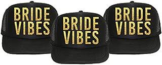 3 Pack - Bride Vibes Hats - Bachelorette Party Favors, Decorations, and Supplies (Black)