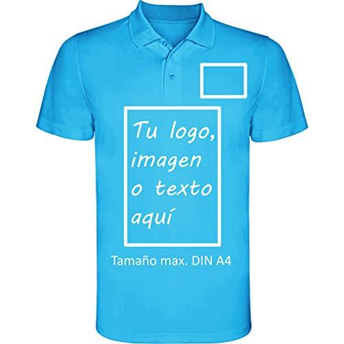 rainUP – Camiseta Técnica Deportiva Personalizable – Polo Padel Tenis Hombre y Niño - Manga Corta – Impresión Directa (DTG) – Puedes añadir tu Frase, Logo o Imagen Personalizada