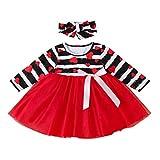Janly - Vestito da principessa con stampa a forma di cuore, per bambine da 0 a 10 anni, vestito da principessa in rete con stampa a forma di cuore, Rosso, 3-4 anni
