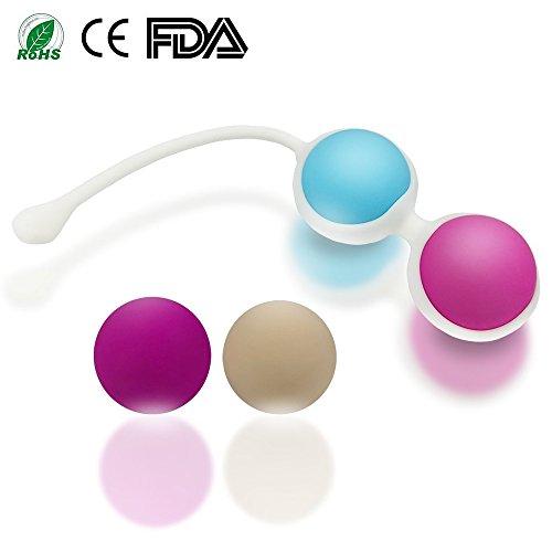 BEQOOL Bolas Chinas Kegel Ejercitador Suelo Pélvico Músculo Impermeable Silicona Médica Masaje Bolas Control de Vejiga para Mujer
