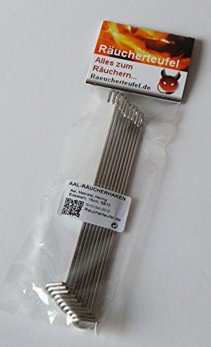 Räucherteufel Aal-Räucherhaken 15cm / 2mm, 10 Stück