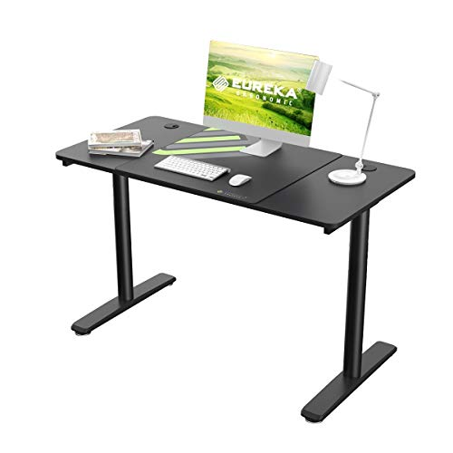 Eureka Ergonomic Computer Desk, 47 inch Home Office Computer Gaming Desk, Modern Simple Style Study Writing Desks PC Table for Small Spaces with Free Mouse Pad Cable Management, Black