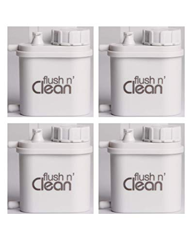 Flush n' Clean Toilet Bowl Cleaner Uses Standard Bromine Tablets - No Special Cartridges - Tablets Included - 4 Pack