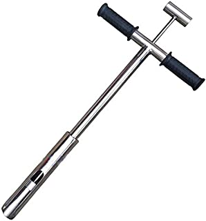 Stainless Steel Soil Sampler Probe, Gator Soil Probe Model with Foot Pedal and Scale, Foot Peg Probing with Ejector (Tubular-Type)