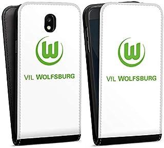 DeinDesign Flip Case kompatibel mit Samsung Galaxy J5 2017 Tasche Hülle VFL Wolfsburg Offizielles Lizenzprodukt Logo