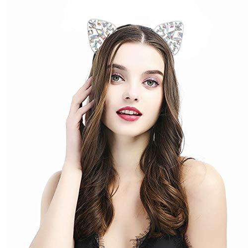 Simsly, Kristall-Haarreif mit Katzenohren, für Partys und als tägliche Dekoration für Damen und Mädchen