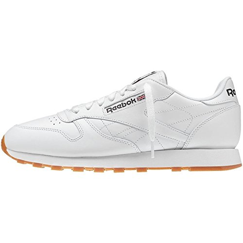 Reebok Men's Classic Leather Casual Sneakers, White/Gum, 10.5