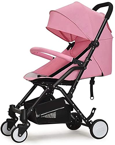 Cochecito de bebé Portátil Cochecito de cochecito de cochecito de bebé Cochecito liviano Sistema de viaje portátil Sistema de viaje para bebés infantil para recién nacido y niño (Color : PINK)