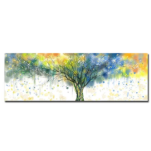 Gedrukt op canvas foto waterdichte posters en prints kleurrijke geldboom muur kunst schilderij salon 20x60cm (7.8