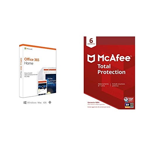 Microsoft Office 365 Home + McAfee Total Protection 6 Dispositivo