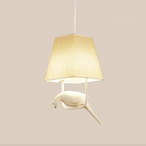 Trois restaurants de lustres lustre créatifs oiseaux lampes design escalier balcon salon simpleHommest la personnalité de conception d'oiseaux, avec substance transparente l'ombre E27 (Couleuré  (a)