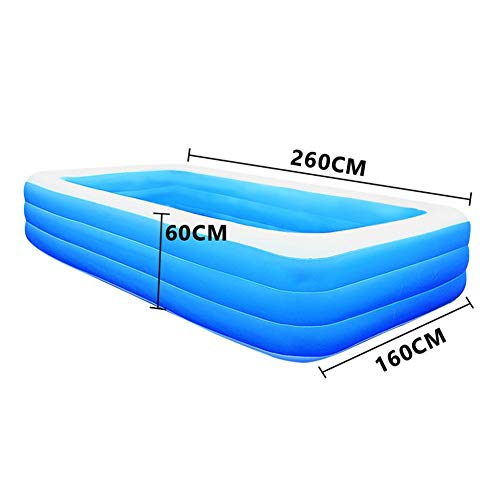 generio Children's Home Use Paddling Pool Large Size Square Swimming Pool Heat Preservation Kids Inflatable Pool Adults Kids