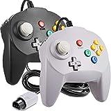 [Nueva versión] 2 unidades para controlador N64, iNNEXT Game pad Joystick para 64 – Plug & Play (versión USB no PC) (Joystick de Japón) negro/gris