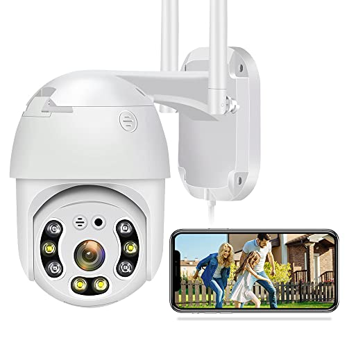 Outdoor Security Cameras,1080P WiFi Camera 360° View Home Security Cameras,Pan Tilt Surveillance Cameras for Home,Two Way Audio Motion Detection Clear Night Vision Waterproof Security Camera Outdoor