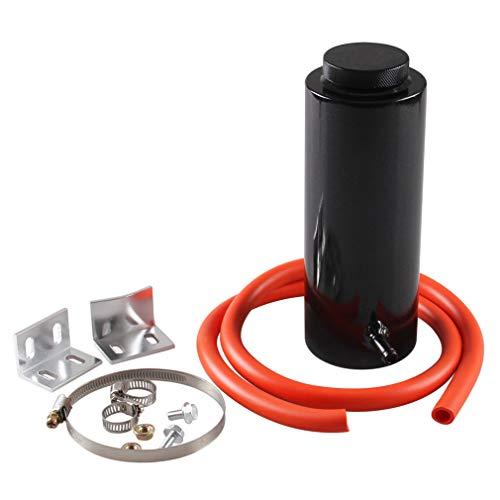 #N/A JIUZUI Kühler Kühlmitteltank 800ml Kühlmittel-Ausgleichsbehälter Kühlauffangflasche Überlaufbehälter für Universalauto, schwarz