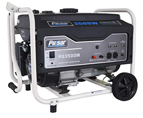 Pulsar 3,500W Portable Gas-Powered Generator with Mobility Kit PG3500M, 3500W