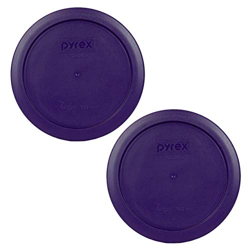 Pyrex 7201-PC Round 4 Cup Storage Lid for Glass Bowls (4, Poppy Red)