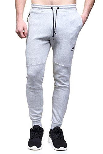Nike Tech Fleece Pant-1MM Hose für Herren XL Gris/Negro (Dk Grey Heather/Dk Grey Heather/Black)
