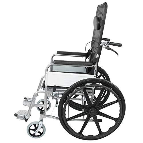 Silla de ruedas Wheelchai, silla de ruedas auto propulsor plegable silla de ruedas con freno de mano herramienta de movilidad estable