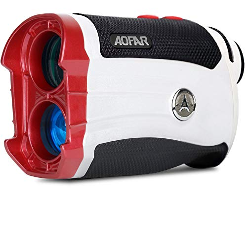 AOFAR GX-2S Telémetro de Golf con Pendiente de On/Off, con Bloqueo de Bandera y Vibración, 600 Yards White Range Finder,Impermeable,Embalaje de Regalo