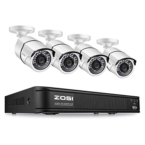 ZOSI 1MP Home Security DVR 8 Channel HD-TVI Hybrid Capability 4-in-1(Analog/AHD/TVI/CVI) Surveillance DVR Reorder 720p,Motion Detection,Remote Control,Email Alarm,1TB Hard Drive Built-in