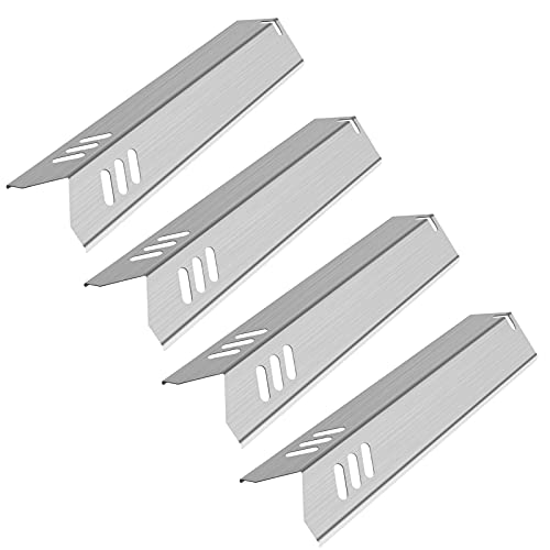 Kalomo 15 Inch Stainless Steel Grill Heat Plates Shield Burner Covers Flame Tamer, BBQ Gas Grill Replacement Parts for Dyna-Glo DGF493BNP, Backyard BY15-101-001-02, Uniflame GBC1059WB, BHG Model, 4Pcs