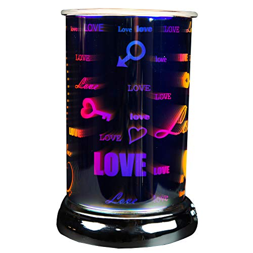 Cello Holographic Electric Melt Burner - Everlasting Love, Silver - Electric, for Scented Wax Medallions, Melts and Essential Oils, Safe to use with pets and kids, No Need for Flame, Aromatherapy.