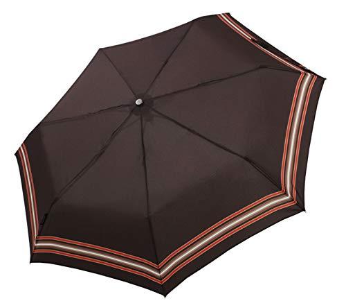 """bugatti Taschenschirm """"Take it duo"""" Uni – Stabiler, leichter Regenschirm – Auf-Zu-Automatik – Für besten Schutz – Stripe Coconut"""