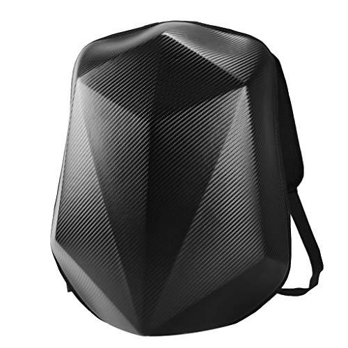 SDENSHI Black No Drag Motorcycle Bike Backpack Bag Sportbike Street Luggage - Carbon Fiber
