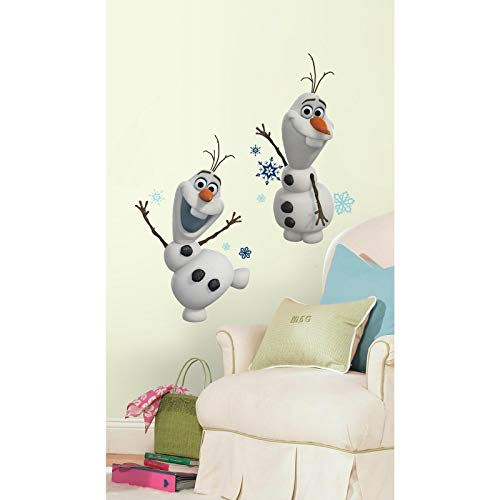 RoomMates RM - Disney Frozen Olaf - der Schneemann Wandtattoo, PVC, bunt, 29 x 13 x 2.5 cm