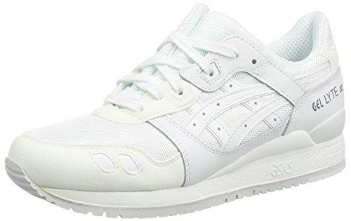 Asics ASICS Gel-Lyte Iii H6b3n-0101-5, Unisex-Erwachsene Sneakers, Weiß (White/White 0101), 36.5 EU