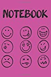 Notebook: Emoji / emoticon - notebooks journals - Smiley - Notebook to write all your emotions, thoughts and ideas | 6x9 inch format | Funny gift to offer for all occasions